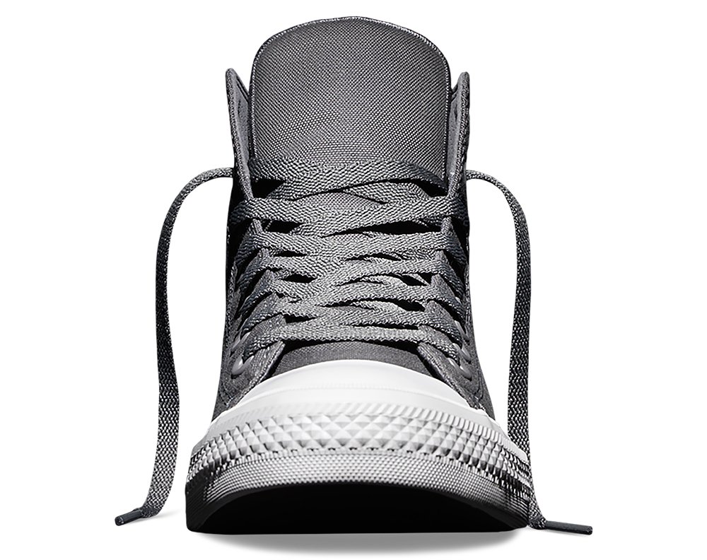 all star converse gray p5d1  Converse Chuck Taylor All Star II high 'Charcoal' front tongue