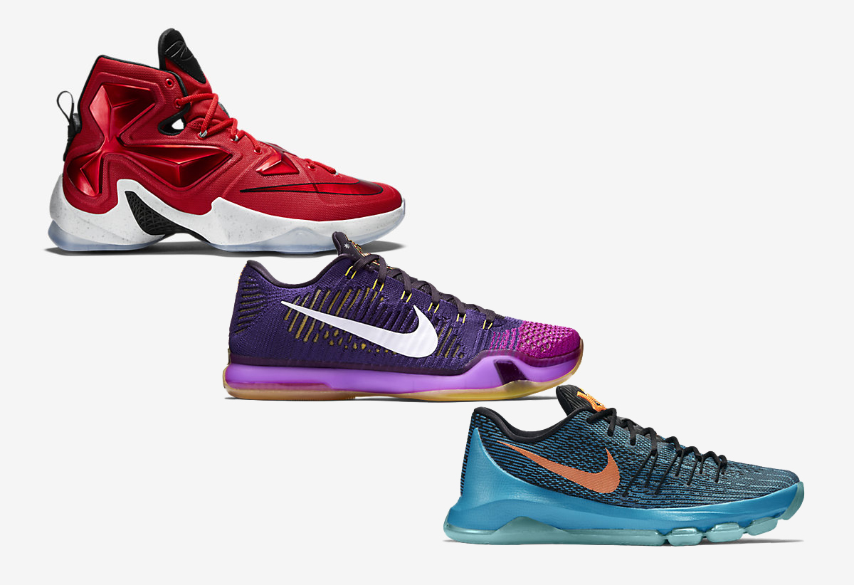 Nike Basketball (KD 8, LeBron 13, Kobe X) Away Colorways Available Now