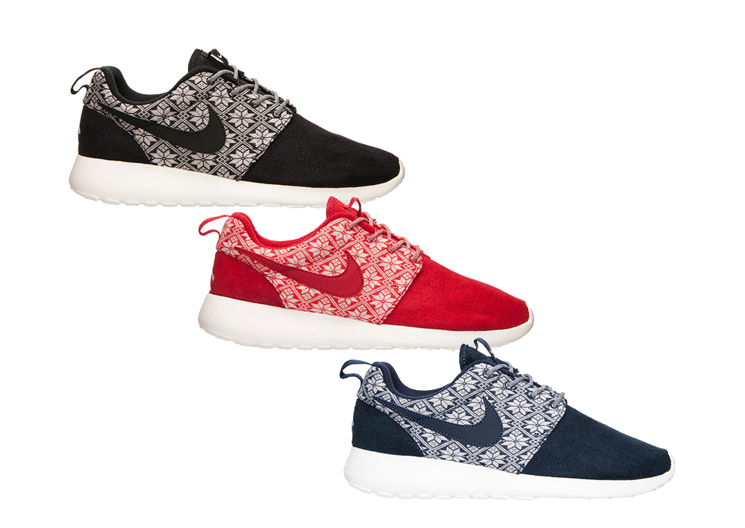 319b081578400 ... These Nike Roshe Ones are Beginning to Look a Lot Like Christmas -  WearTesters Nike Roshe One Winter Christmas Sweater Pack Black Yeti ...