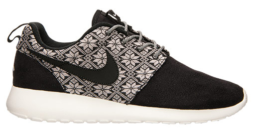 5991cabe2f79a ... Nike Roshe Run Ugly Christmas Sweater black white . ...