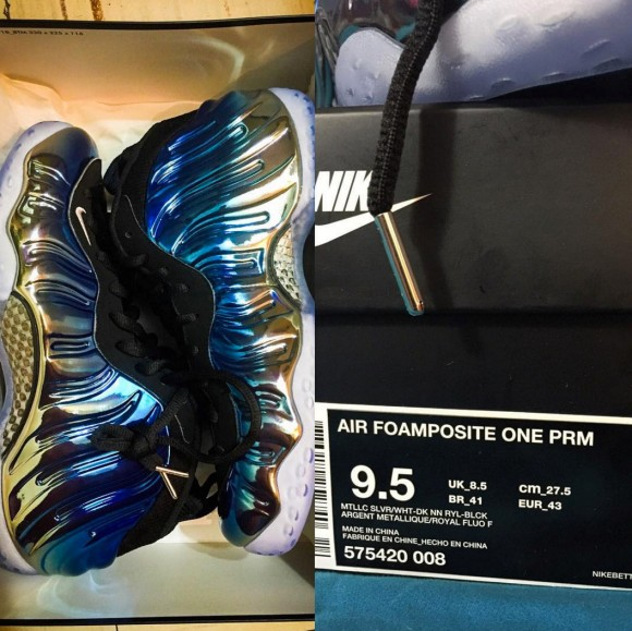 online store 2923d a8623 nike air foamposite one PRM blue mirror 2 - WearTesters