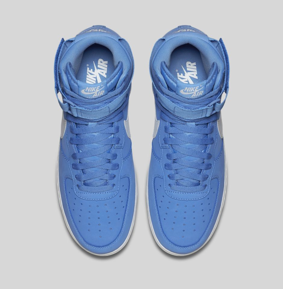 nike air force ones high top blue for sale