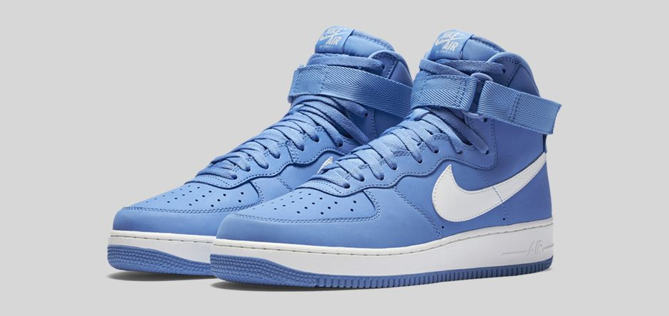 hot sales 7e451 e181d Nike Air Force 1 High 'Carolina Suede' – Available Now ...