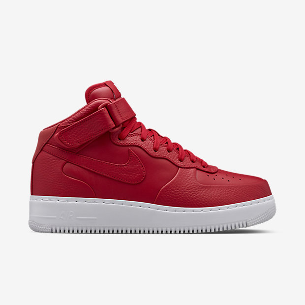 Nike Mens Shoes - NikeLab Air Force 1 Mid Gym Red/White/Gym Red C8m7836