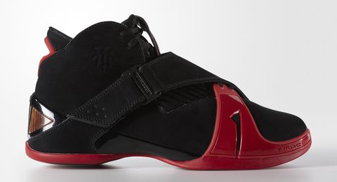 adidas T-Mac 5 Retro is now available in Black: Red Main