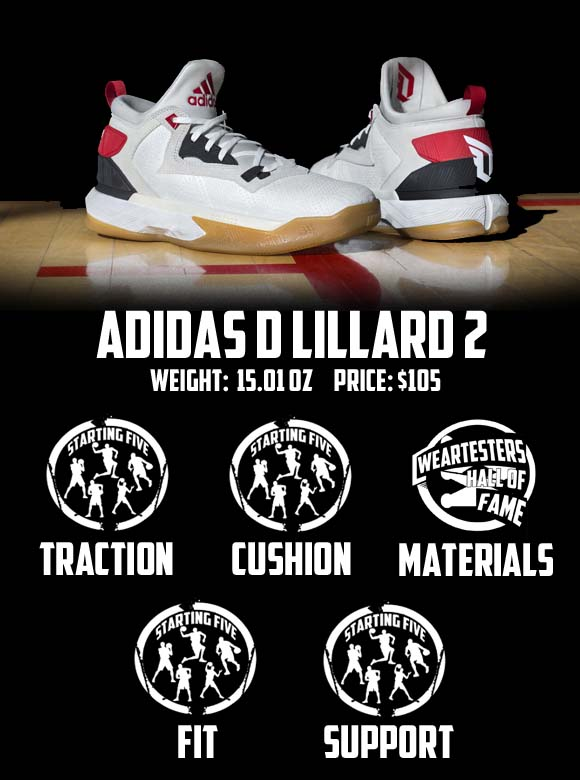 adidas d lillard 2 performance review score