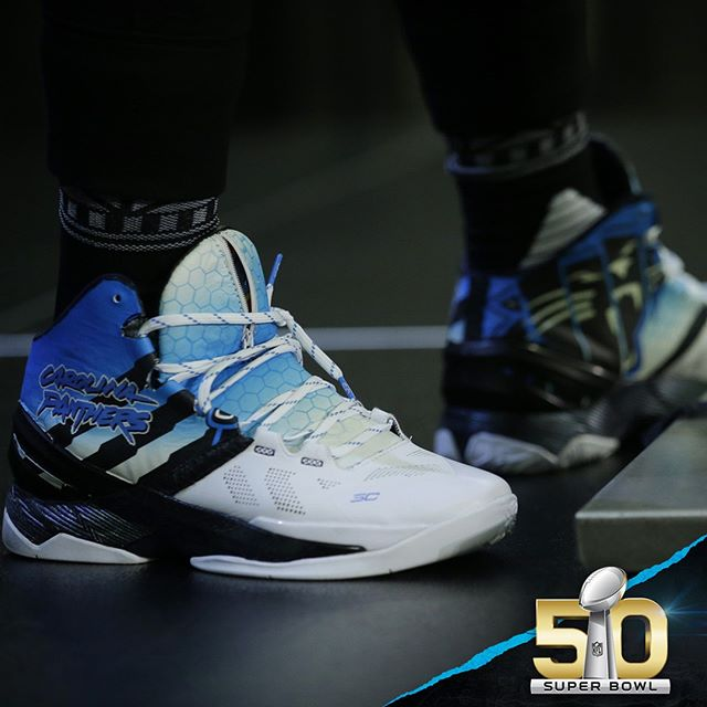 reputable site dec96 5099a Cam Newton Rocks a Custom Colorway of the Under Armour Curry ...
