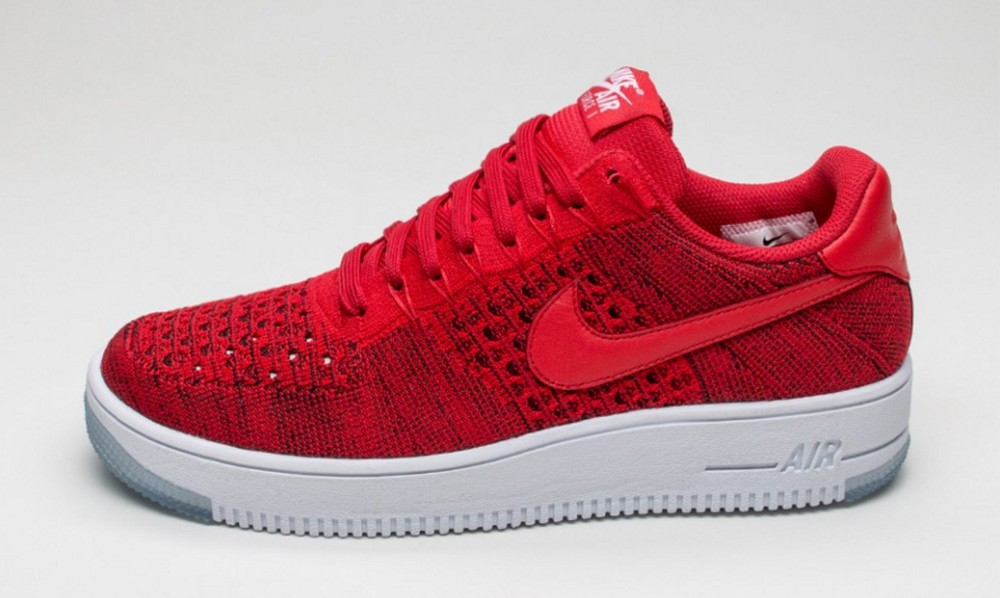 nike air force 1 ultra flyknit low university red color