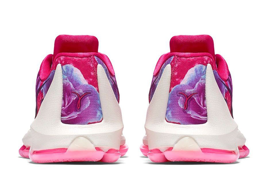 finest selection 9b620 30c4d Nike KD 8 'Aunt Pearl' heel view - WearTesters