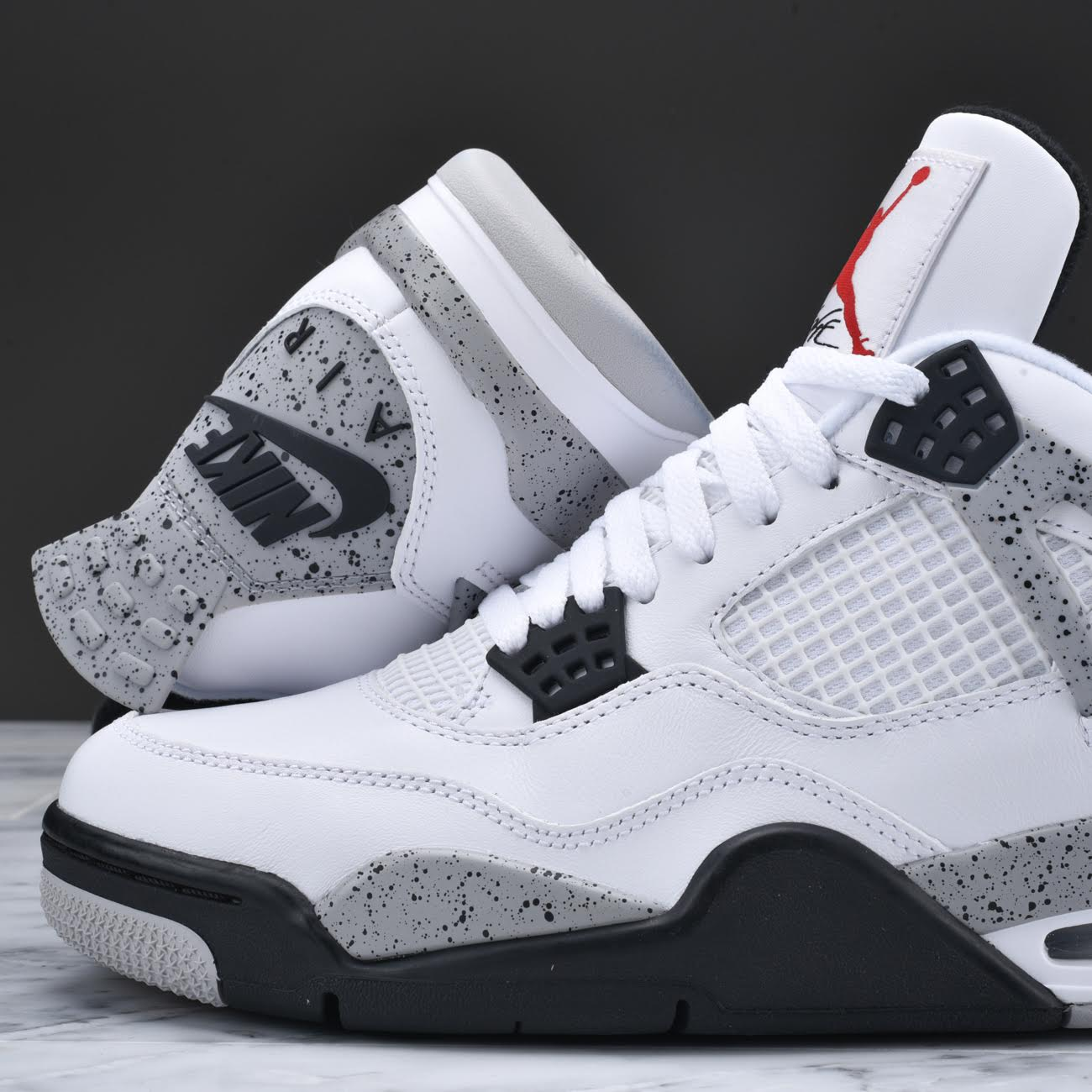 22b17fa6522 What To Wear With Jordan Retro 4 White Cement Jordan 4 White Cement On Feet