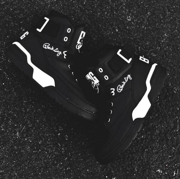 ewing 33 hi black/white leather