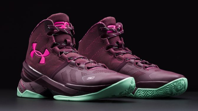 under armour curry one pink purple