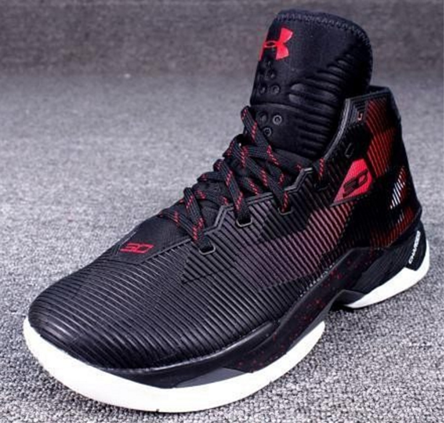 Men's Curry 2 Low Athletic Basketball Sneaker Red Shiekh Shoes