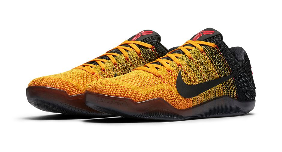 the latest decab 5fff5 Lakers Nike Kobe 11 Yellow Purple Get an Official Look at the Nike Kobe 11  Warrior Spirit-1 .
