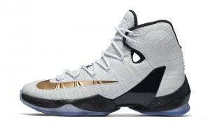 Kiss the Ring in the Nike LeBron 13 Elite in Metallic Gold