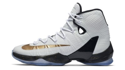 Kiss the Ring in the Nike LeBron 13 Elite in Metallic Gold