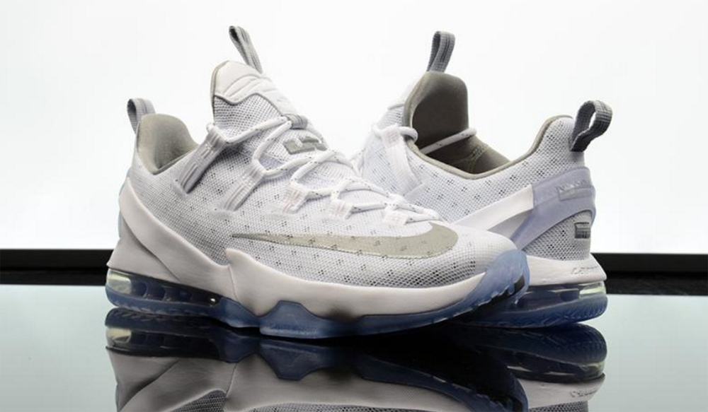 The Nike LeBron 13 Low in White/ Silver