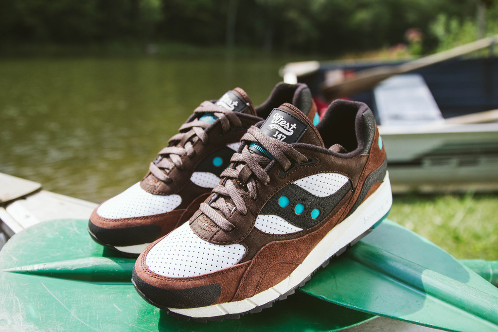 WEST NYC x Saucony Shadow 6000  fresh water 2