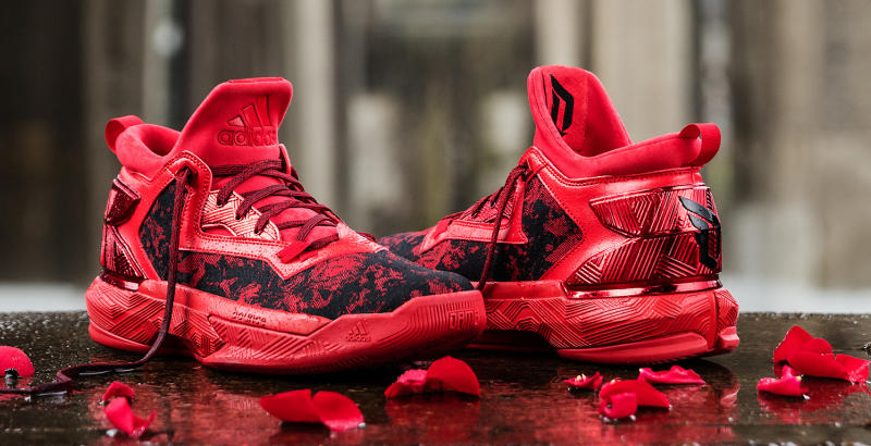 Buy all red damian lillard shoes   OFF57% Discounted 307385c47