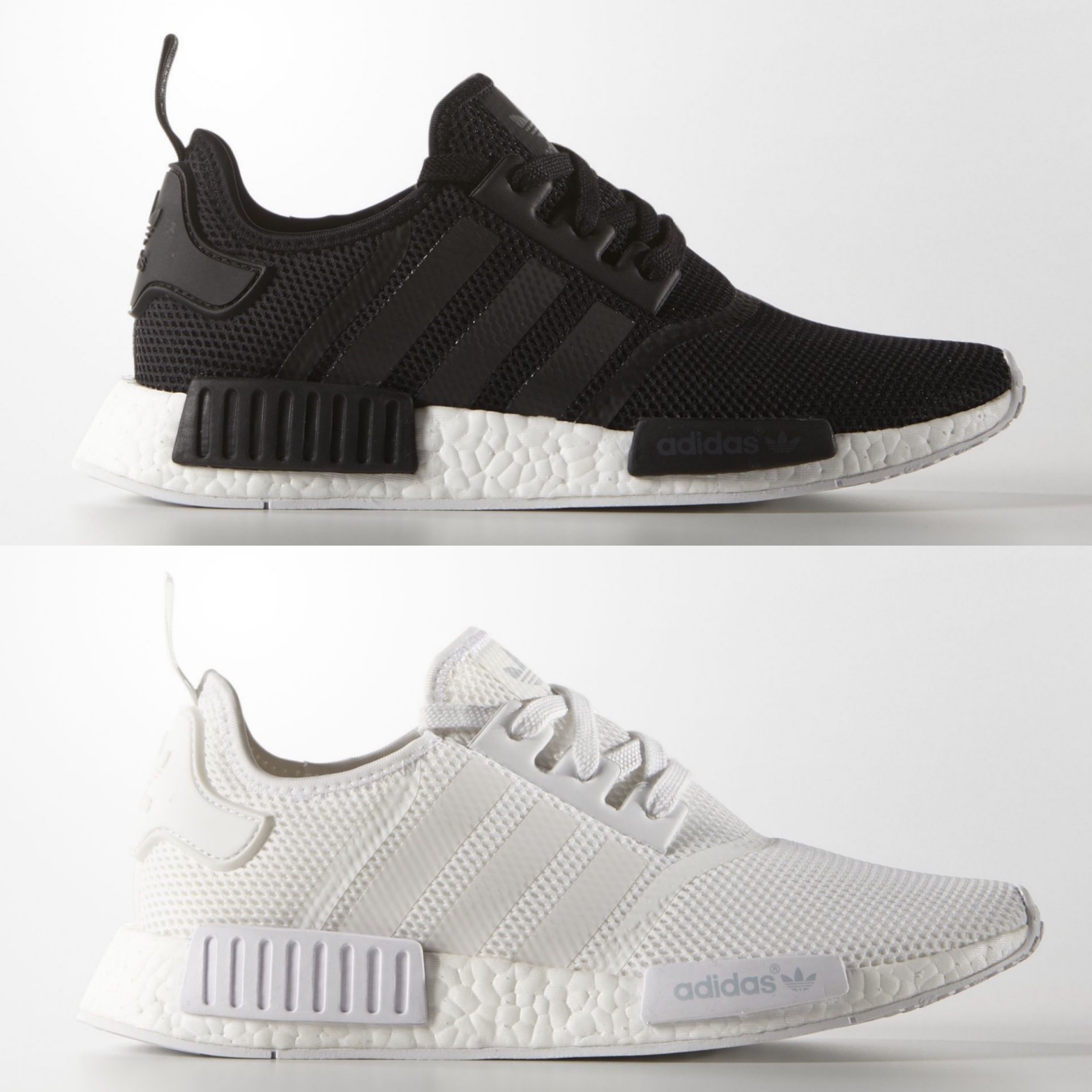 86370c5c30230c Adidas Nmd R1 White With Black kenmore-cleaning.co.uk