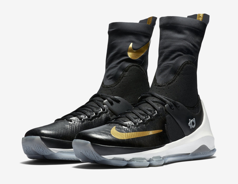 Here's an Official Look at the Nike KD 8 Elite in Black & Gold-2 ...