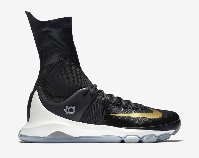 ... Here's an Official Look at the Nike KD 8 Elite in Black & Gold-5 ...