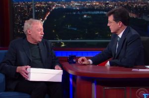 Phil Knight Laces Colbert with a Special Pair of Nikes