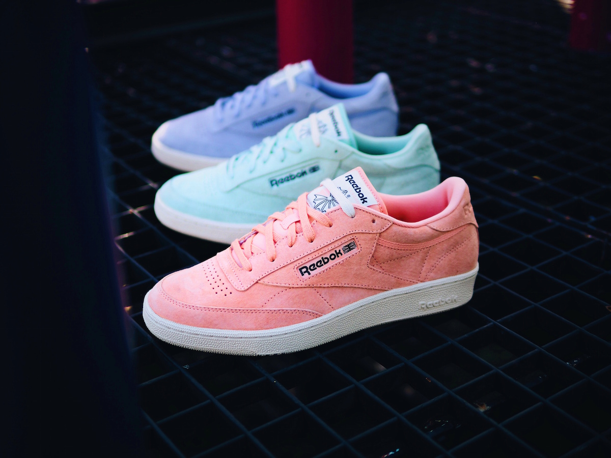 reebok classic does pastels with the club c 85 pack. Black Bedroom Furniture Sets. Home Design Ideas