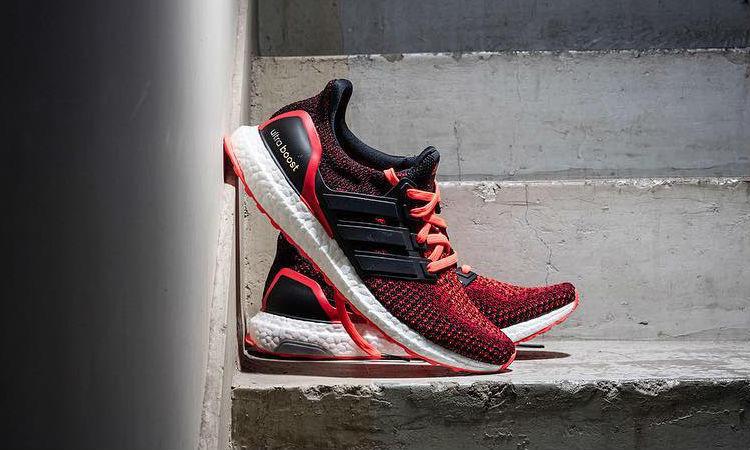 Adidas Ultra Boost 2,0 Noyau Noir Rouge Solaire