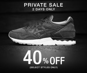 40% Off ASICS Tiger for Two Days Only