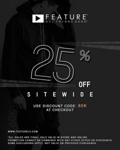 Feature Offers 25% Off for 24 Hours
