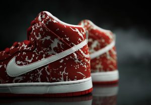 Disgust Vegetarians in the Nike Dunk High SB 'Raw Meat'