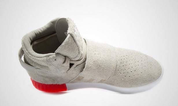 Adidas Tubular Invader Strap Grey On Feet
