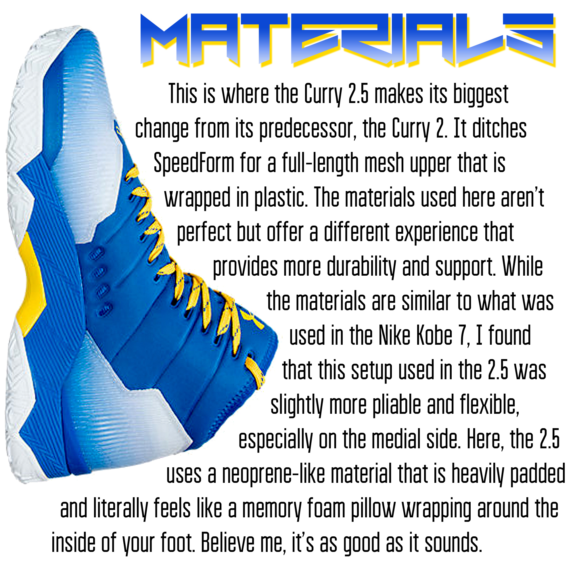 Curry 2.5 - Materials