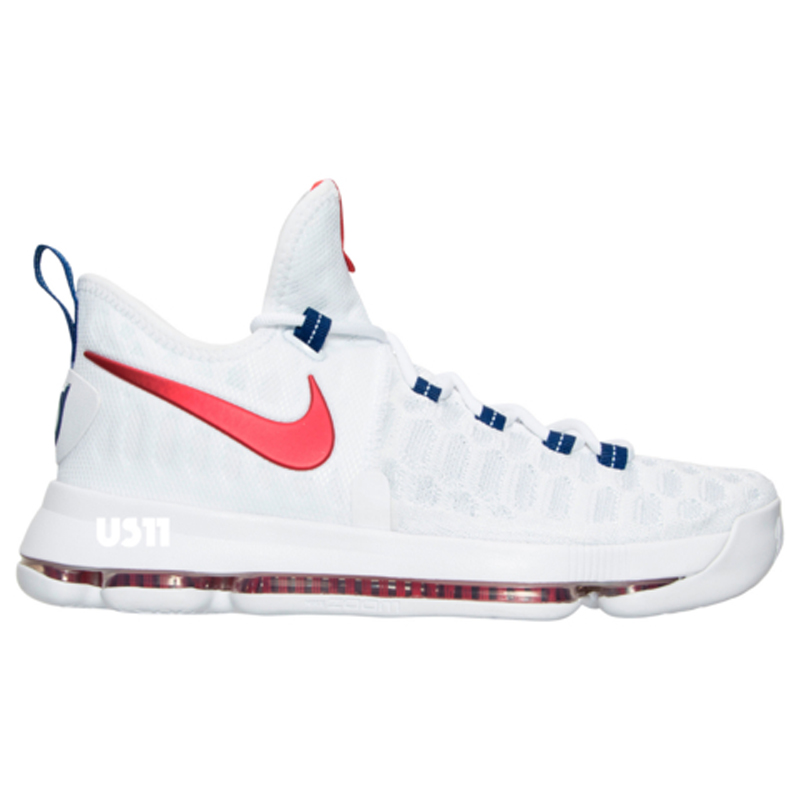 Nike KD 9 in White/ University Red