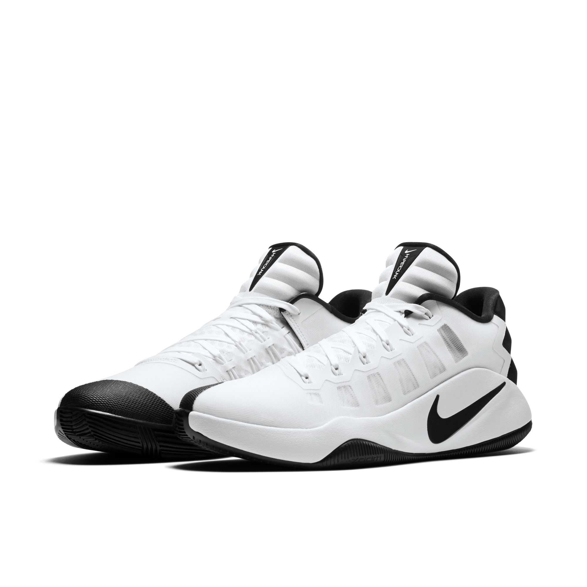 nike hyperdunk low white black