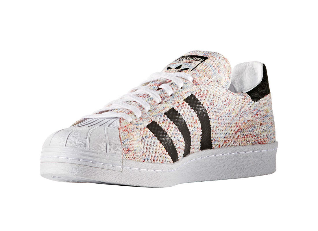multicolor primeknit hits the adidas superstar weartesters. Black Bedroom Furniture Sets. Home Design Ideas