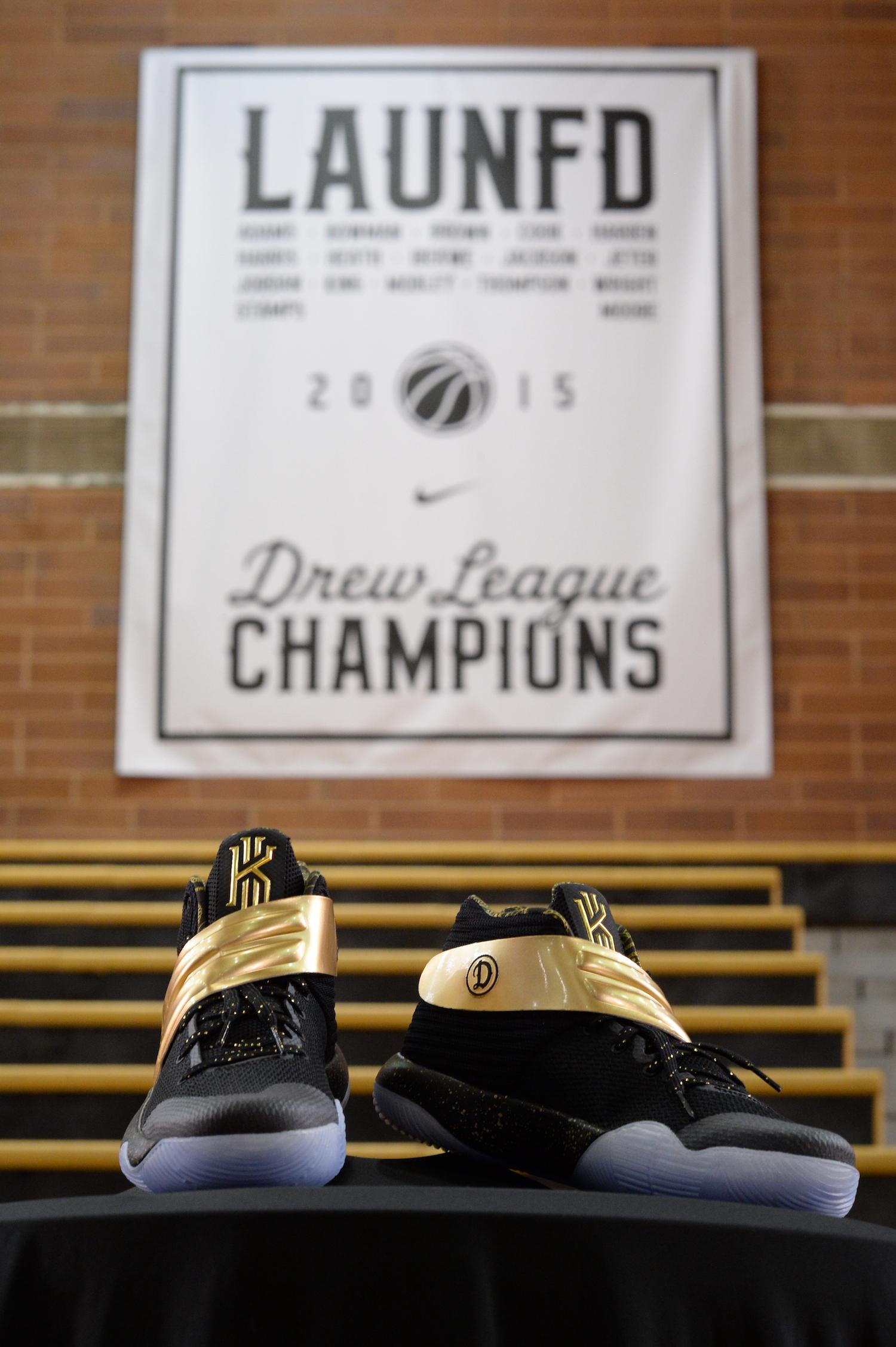 best sneakers 37902 ee728 Drew League Champs Get Custom Kyrie 2 NikeiD - WearTesters