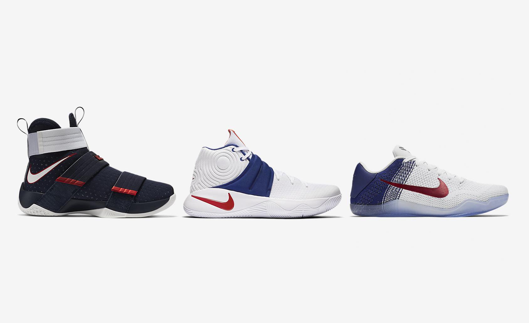 buy popular 07629 fd7a4 2016 Nike Basketball 'USA' Pack (Kobe 11, Kyrie 2, LeBron ...