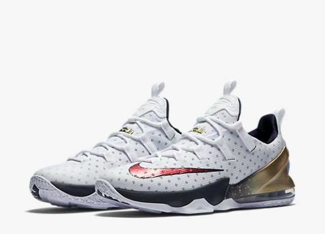 low priced aa94f 1ea91 The Nike Lebron XIII Low 'Olympic Gold' is Available Now ...