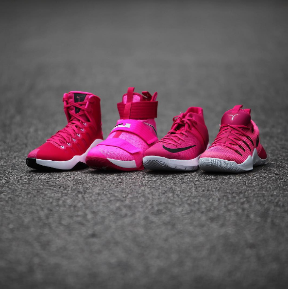 finest selection 016e7 dfd39 Check out Nike Basketball's Breast Cancer Awareness Pack ...