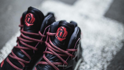 Get a Detailed Look at the adidas D Rose 7 in Black: Red 1
