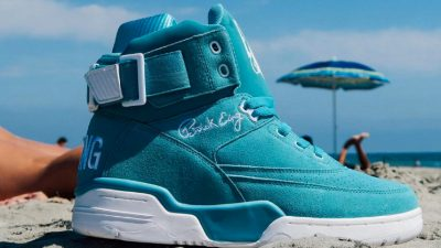 ewing 33 hi turquoise suede 2