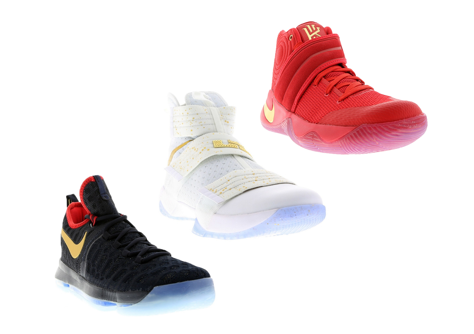 the best attitude 3dd29 902e7 Nike Basketball's Gold Medal Pack (KD 9, Kyrie 2, Soldier 10 ...