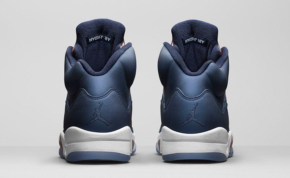Air Jordan Retro 5 Blu E Bronzo s51Dl4A