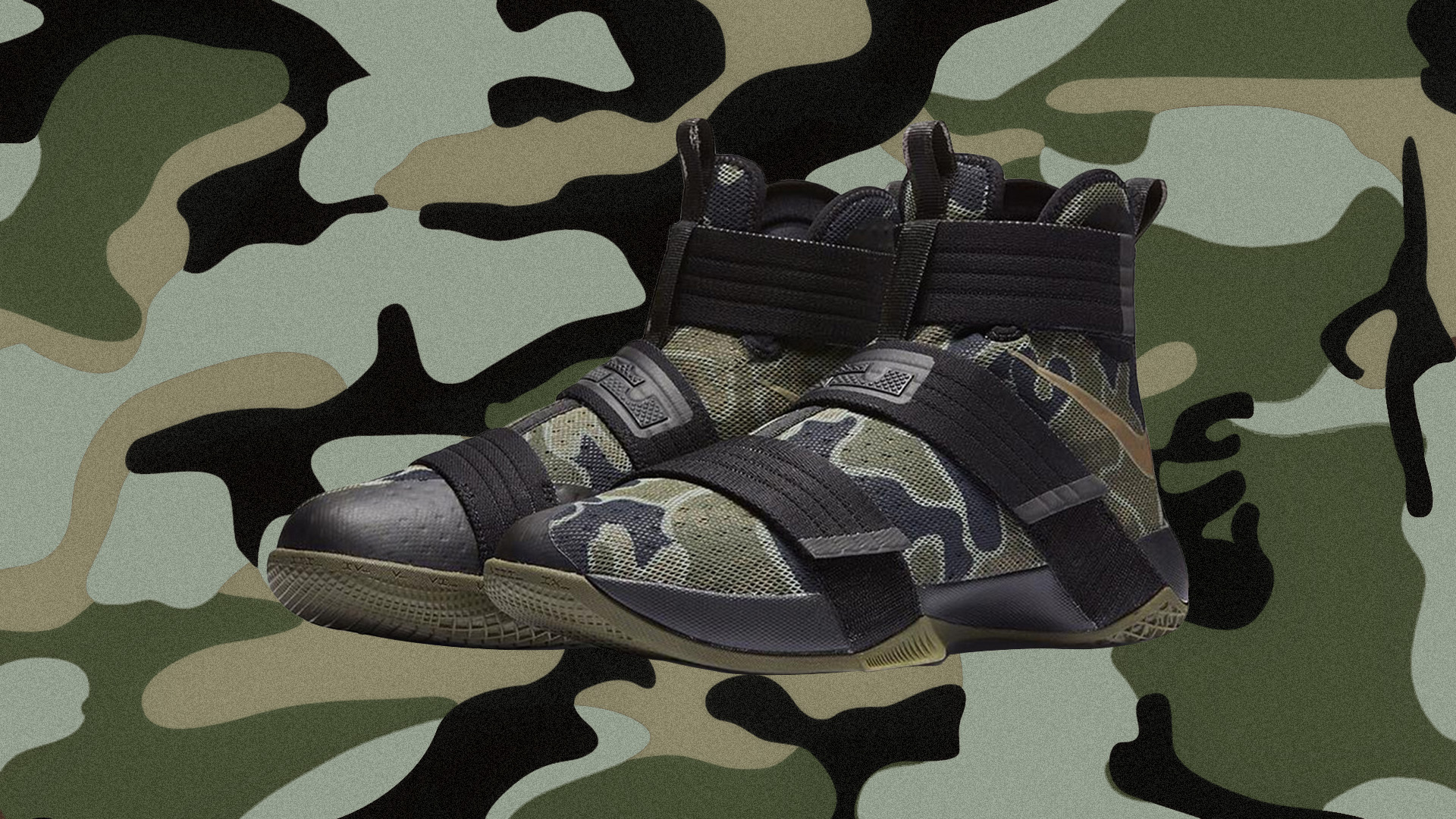 new styles 4e471 78003 The Nike LeBron Soldier 10 SFG 'Camo' is Available Now ...