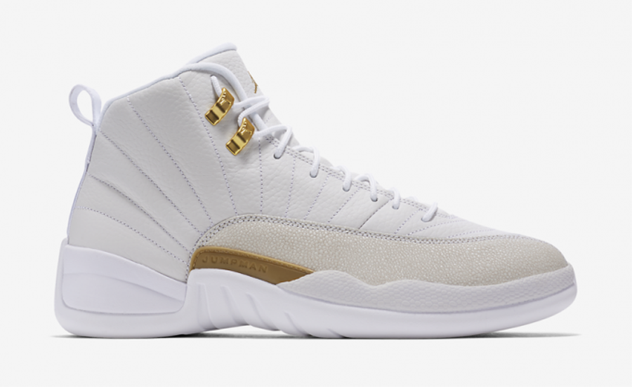 the white air jordan 12 retro ovo gets