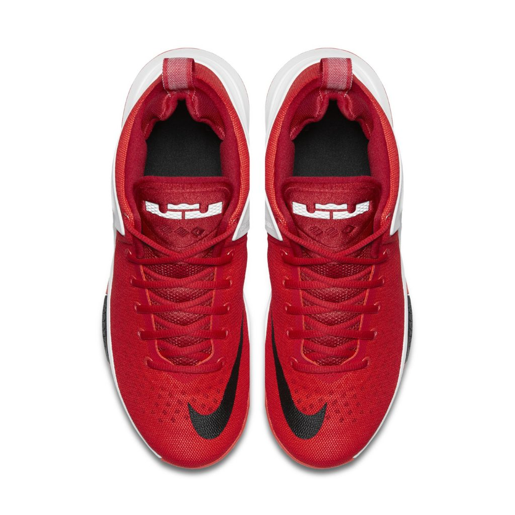 nike lebron witness silver red