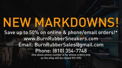 burn rubber sale