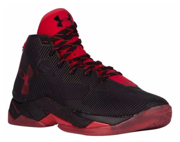 Black/Red Curry 2.5 Drops at Eastbay